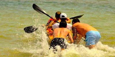 Départ en kayak de mer pour une incentive