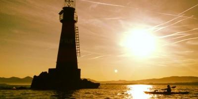 Couché du soleil en kayak - Antibes Golfe Juan