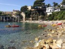 We arrived in Villefranche sea kayak