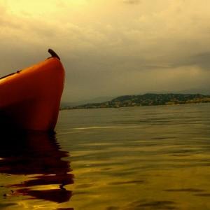 Aqua sport evasion splendide coucher de soleil en kayak de - Les plus beaux coucher de soleil sur la mer ...