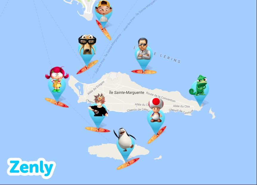 carte des îles zenly